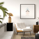 Interior of modern living room with armchair 3 D rendering - PhotoDune Item for Sale