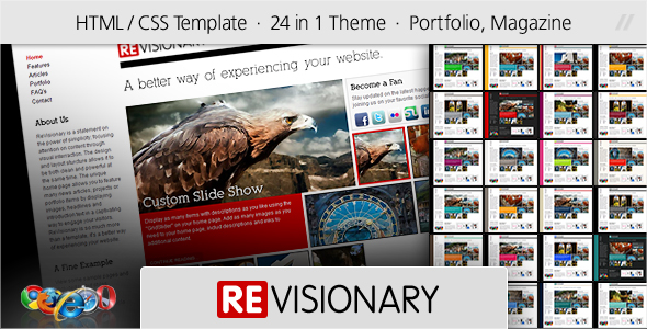 Free Download ReVisionary - HTML Portfolio and Magazine Site Nulled Latest Version