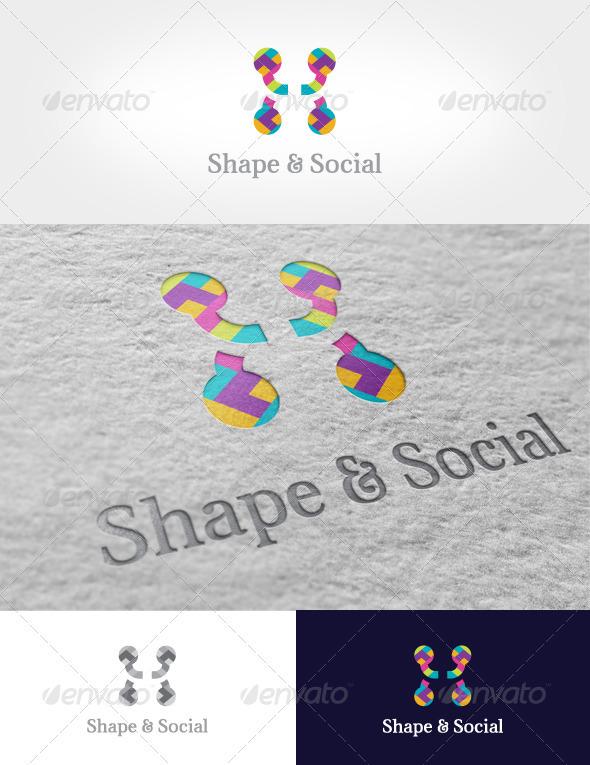 Shape & Social Logo - Symbols Logo Templates