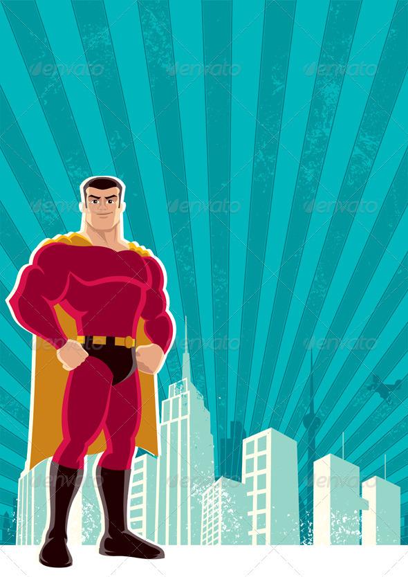 Superhero City - Characters Vectors