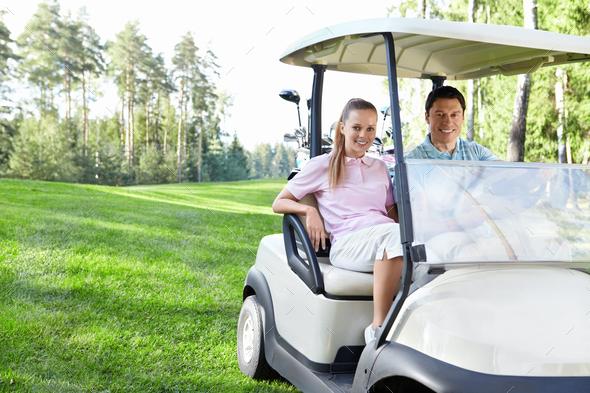 Golfing - Stock Photo - Images