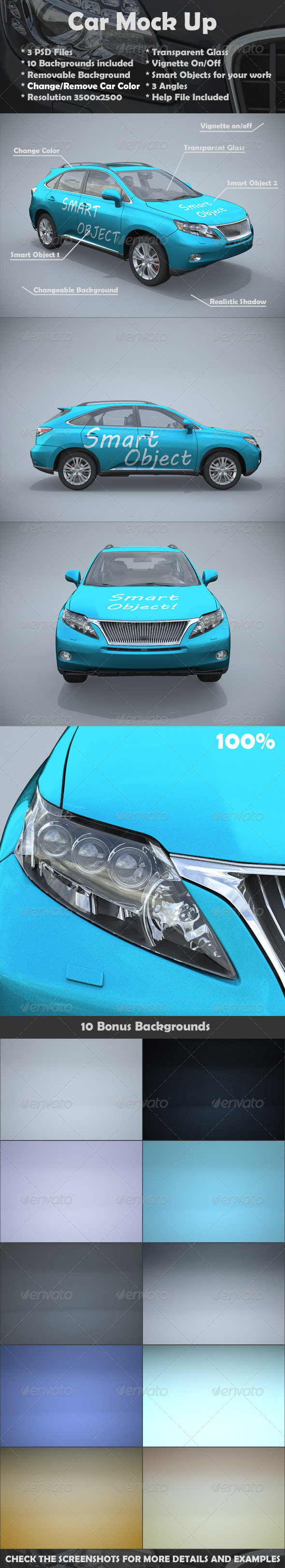 Car Mockups - Vehicle Wraps Print