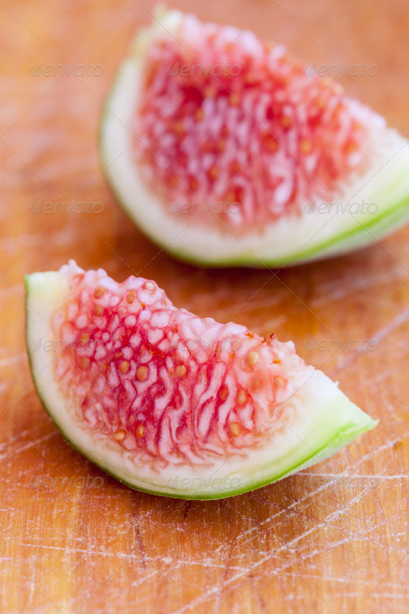 Sliced figs - Stock Photo - Images