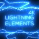 4k Lightning Elements - VideoHive Item for Sale