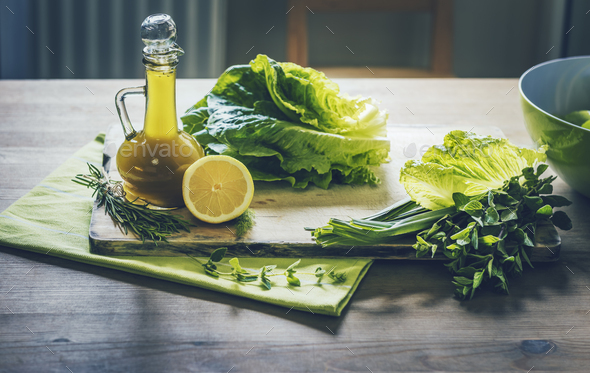 Ingredients for Green Salad - Stock Photo - Images