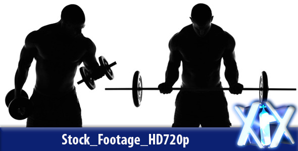 muscular man lifting weights silhouette by xnitrox videohive