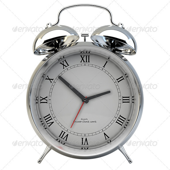 Alarm Clock - Objects 3D Renders