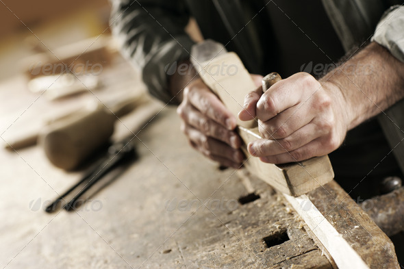 hands of a craftsman - Stock Photo - Images