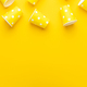 Overhead Photo Of Disposable Paper Cups On Yellow Background With Copy Space - PhotoDune Item for Sale