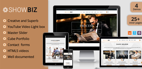 Extraordinary Showbiz - Multipages Business HTML Template