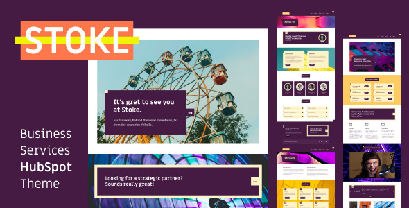 Stoke – Business Services HubSpot Theme