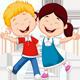 Cheerful Children Summer Mood Heat
