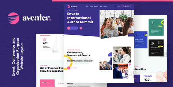 Aventer   Conferences & Events HTML Template