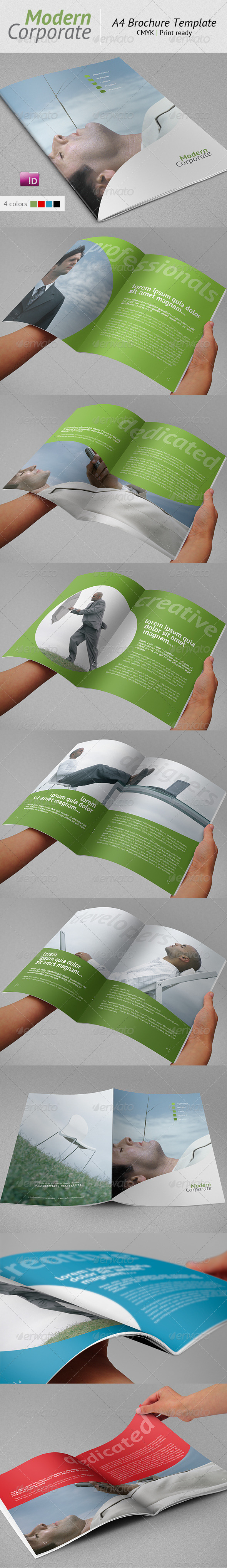 Modern Corporate A4 Brochure Template | 12 Pages - Corporate Brochures