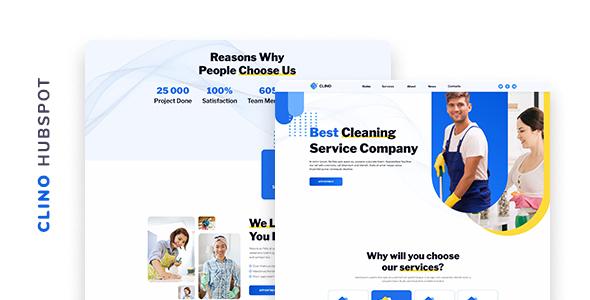 Clino – Cleaning Company HubSpot Theme