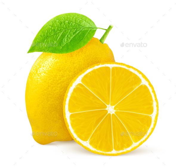 Lemons isolated on white background - Stock Photo - Images