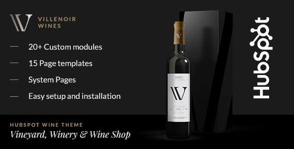 Villenoir – Wine Hubspot Theme
