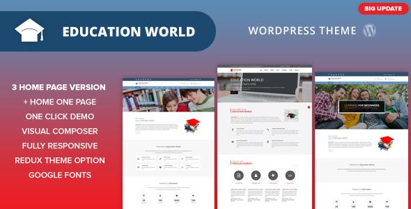 Wondrous Education World WordPress Theme