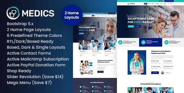 Marvelous Medics - Healthcare HTML Template