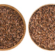 Flax seeds in bowl isolated on white background. Top view - PhotoDune Item for Sale