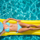 Top view portrait of woman in the swimming pool - PhotoDune Item for Sale