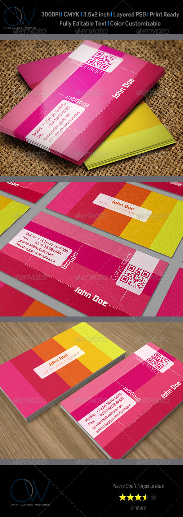 Blogger Business Card - Creative Business Cards