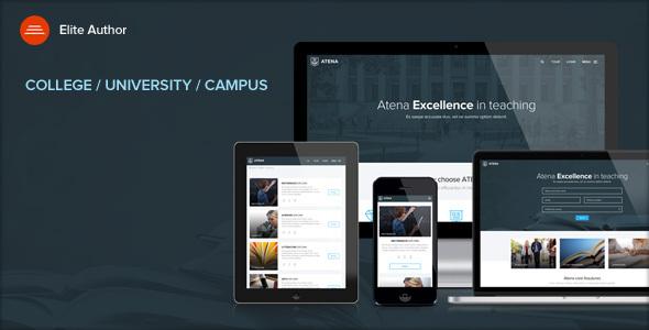 Extraordinary ATENA - College, University and Campus WordPress Theme