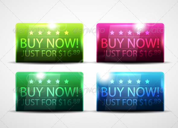 Shiny Bright Buy Now Banners - Web Technology