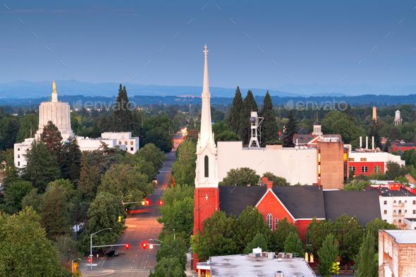 Salem, Oregon, USA Downtown City Skyline - Stock Photo - Images