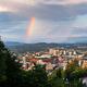 Portland, Oregon, USA downtown cityscape with a Rainbow - PhotoDune Item for Sale