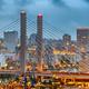 Tacoma, Washington, USA cityscape with East 21st Street Bridge - PhotoDune Item for Sale