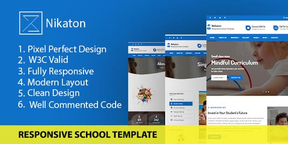 Exceptional Nekaton - Responsive School & kindergarten Template