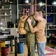 Upset gay man seeing his boyfriend off - PhotoDune Item for Sale