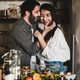 Loving couple having fun during cooking together in kitchen - PhotoDune Item for Sale