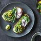 Mashed Avocado on Toast with Cucumber and Radish - PhotoDune Item for Sale