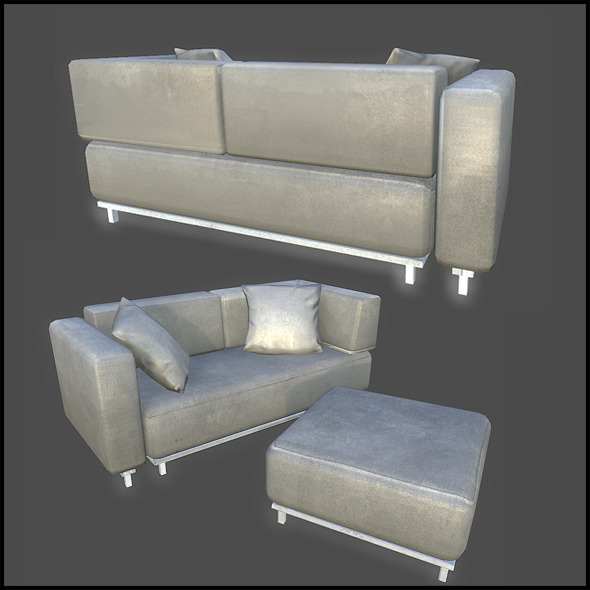 Couch Set - 3DOcean Item for Sale