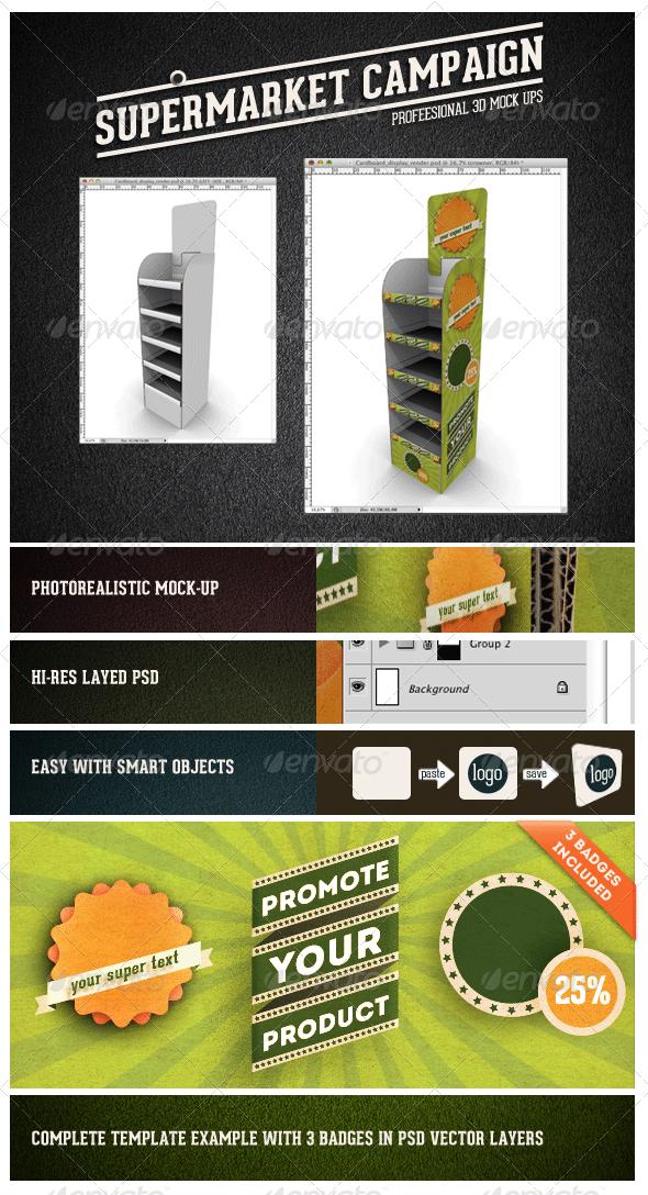 Card Board Display Mock-up - Miscellaneous Displays