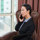 Serious businesswoman talking on phone - PhotoDune Item for Sale