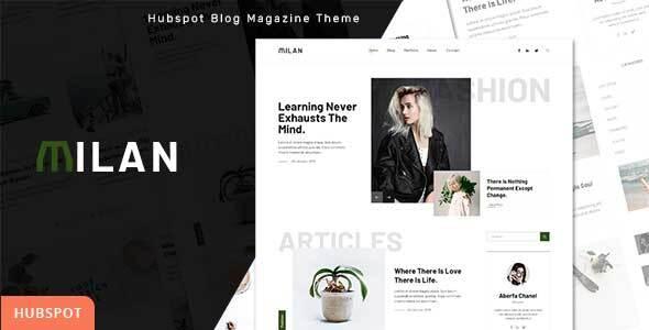 Milan – Blog and Magazine HubSpot Theme