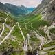 Trollstigen, Andalsnes, Norway. Serpentine Mountain Road Trollstigen. Famous Norwegian Landmark And - PhotoDune Item for Sale