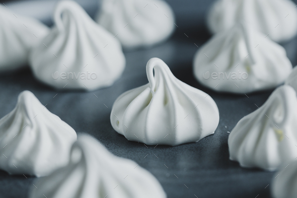Homemade merengue on plate - Stock Photo - Images