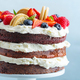 Fruity cake with cream on stander - PhotoDune Item for Sale