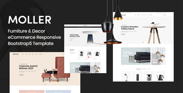 Exceptional Moller - Furniture & Decor eCommerce Responsive Bootstrap5 Template