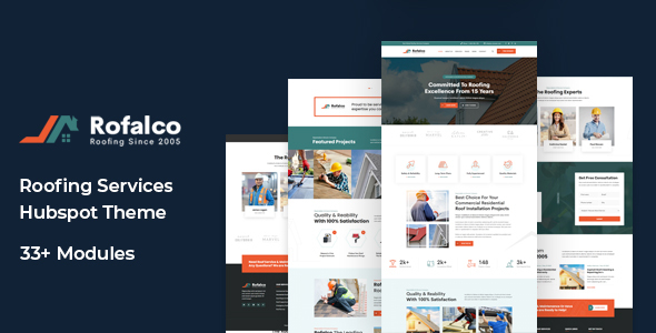 Rofalco - Roofing Services HubSpot Theme