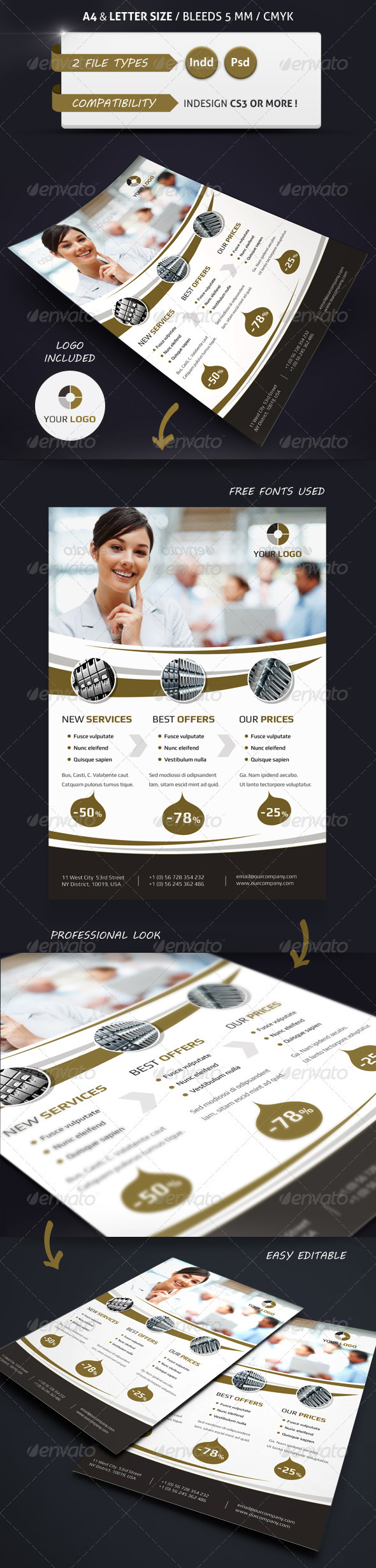 Modern Business Flyer Template A4 & Letter - Commerce Flyers