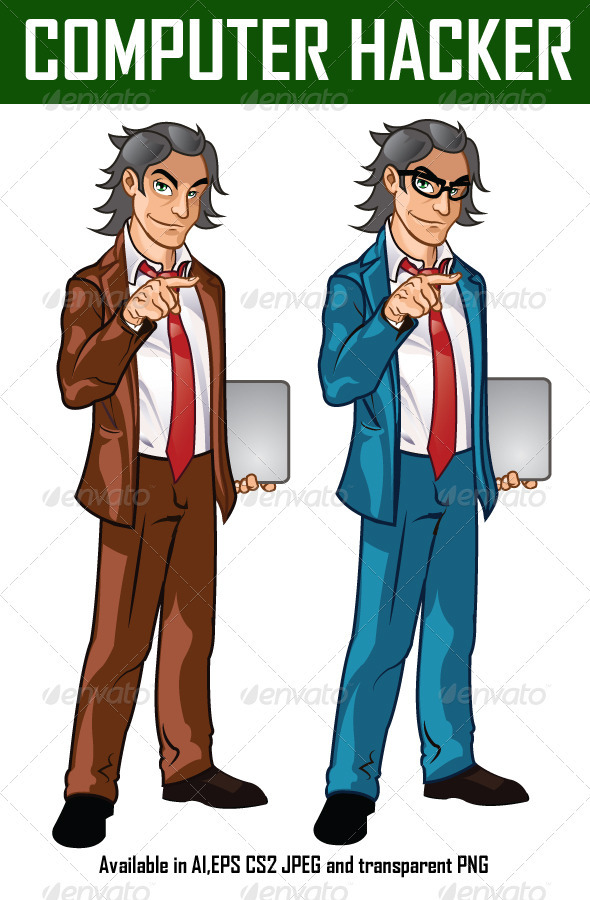 Computer Hacker - People Characters