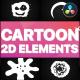 2D Cartoon Elements | DaVinci Resolve - VideoHive Item for Sale