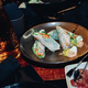 Veggie rolls with sauce on plate - PhotoDune Item for Sale