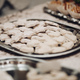 a lot of white star cookies on a silver plate - PhotoDune Item for Sale