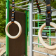 Wooden gymnastic rings hanging in a open air gym. - PhotoDune Item for Sale